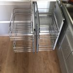 Cocina salon lacada gris metalizado